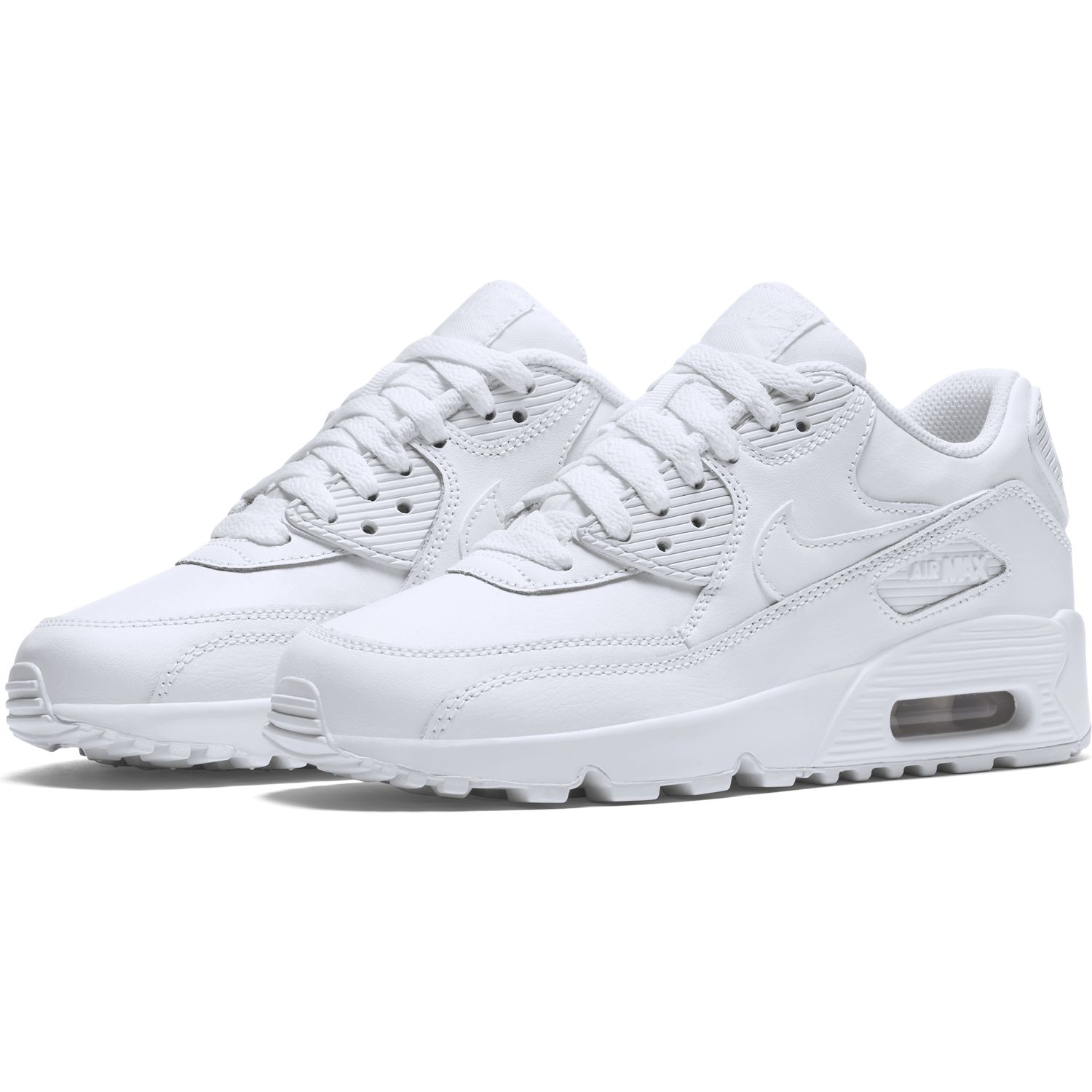 sports shoes c13d2 679df BUTY JUNIOR LIFESTYLE NIKE AIR MAX 90 LEATHER BIAŁE 833412-100 . ...