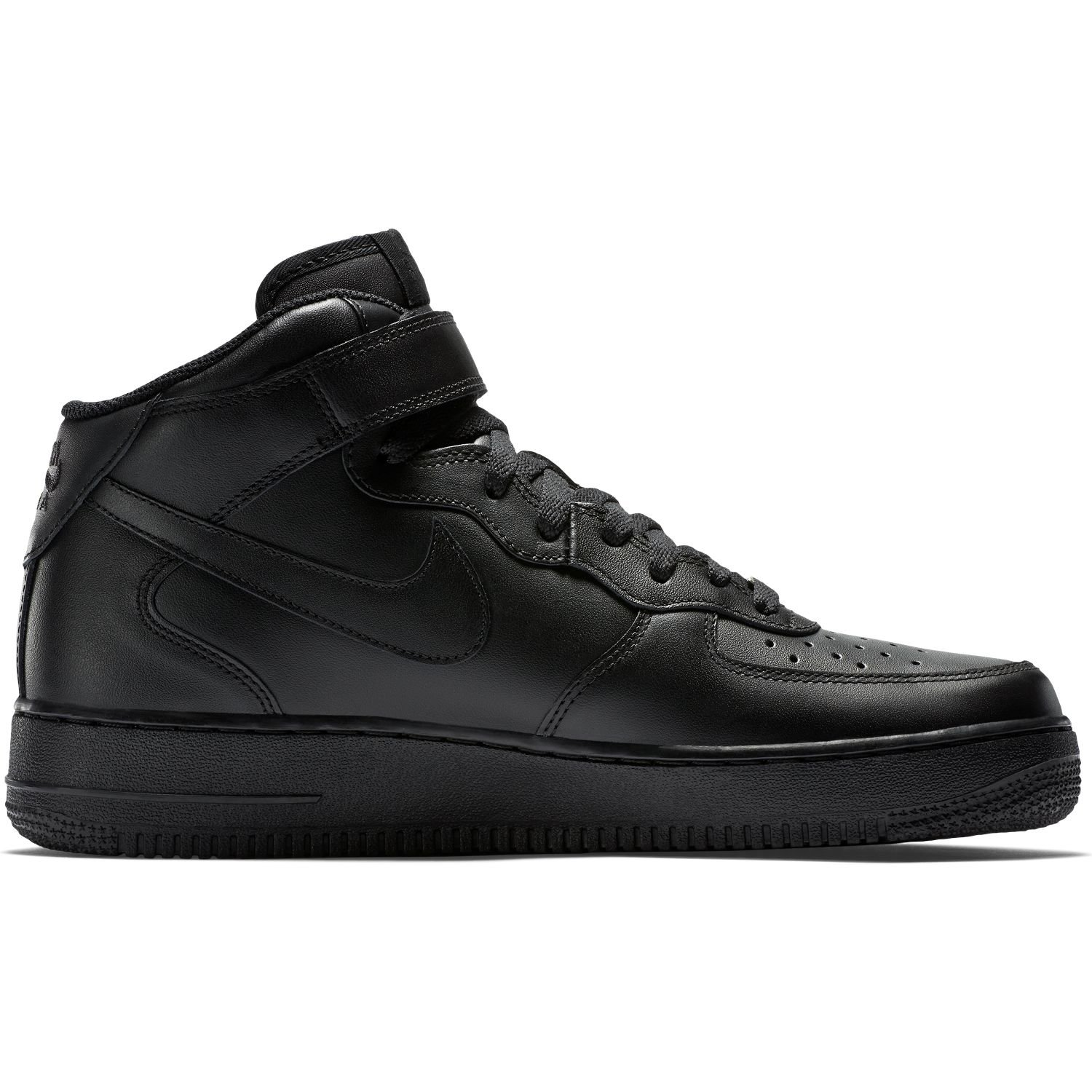 BUTY MĘSKIE NIKE AIR FORCE 1 MID 07 ALL BLACK 315123-001
