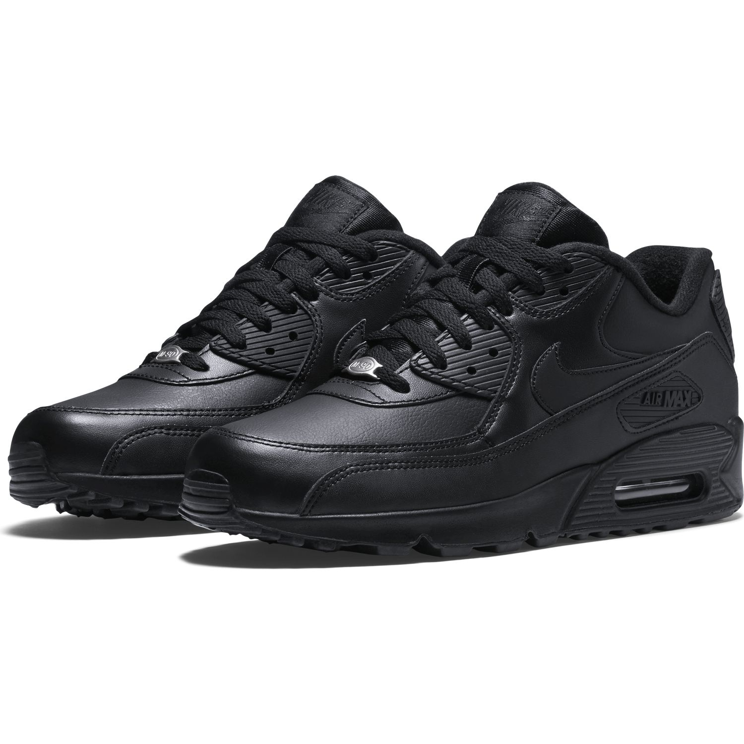 Buty męskie Nike Air Max 90 Leather All Black 302519 001