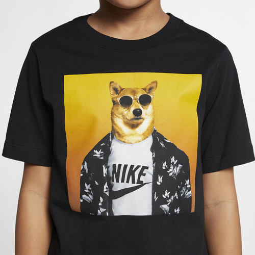 KOSZULKA JUNIOR NIKE NSW TEE FUTURA ANIMAL CZARNA BQ2716-010