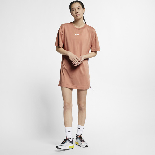 SUKIENKA NIKE NSW SWOOSH DRESS BRĄZOWA BQ7960-605